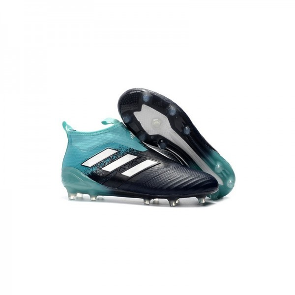 Men's Adidas ACE 17+ Purecontrol FG Football Boots Black Blue White