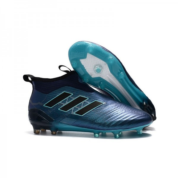 Men's Adidas ACE 17+ Purecontrol FG Football Boots Blue Black