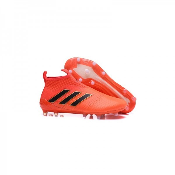 Men's Adidas ACE 17+ Purecontrol FG Football Boots Orange Black