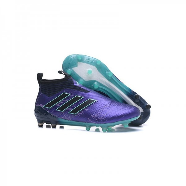 Men's Adidas ACE 17+ Purecontrol FG Football Boots Purple Black