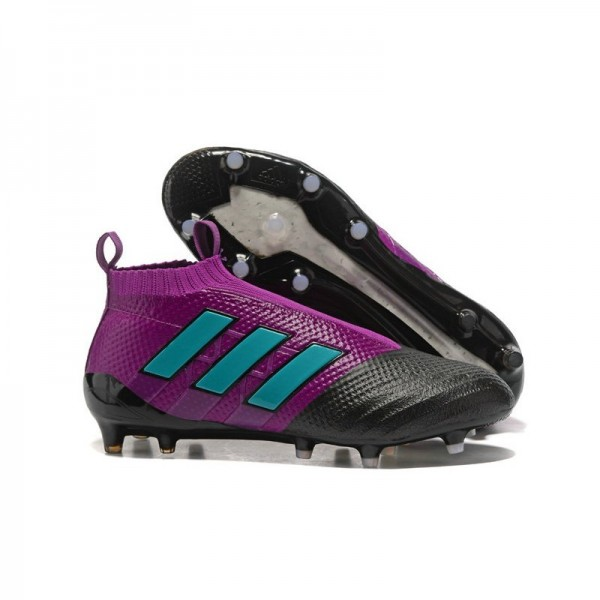 Men's Adidas ACE 17+ Purecontrol FG Soccer Cleats Purple Black Blue