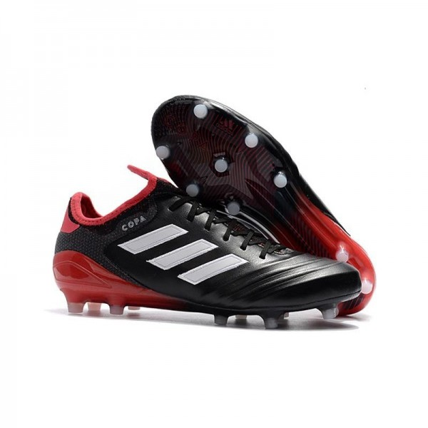 Men's Adidas Copa 18.1 FG K-leather Soccer Cleats Black White Red