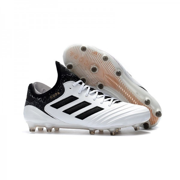Men's Adidas Copa 18.1 FG K-leather Soccer Cleats White Black Gold