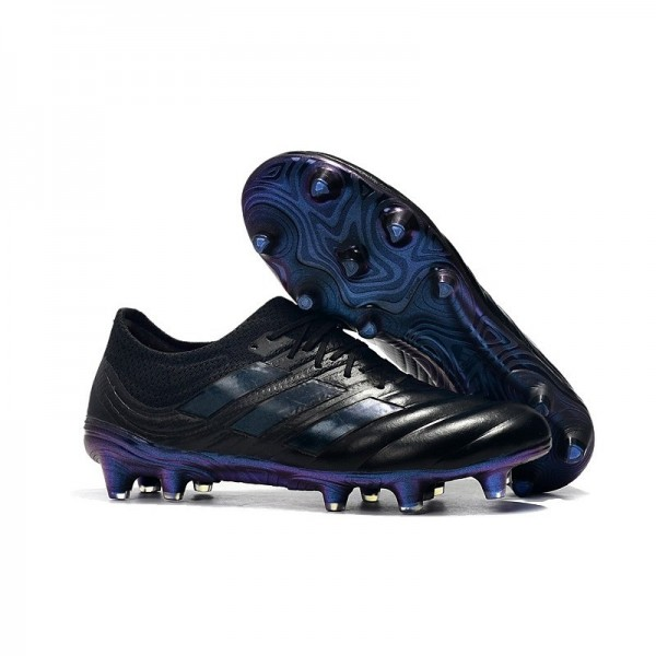 Men's Adidas Copa 19.1 FG Soccer Shoes In Black Blue