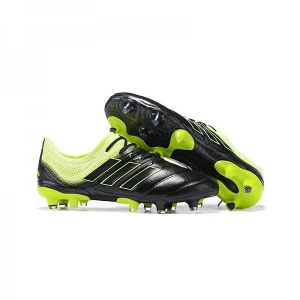 Men's Adidas Copa 19.1 FG Soccer Shoes In Black Solar Yellow