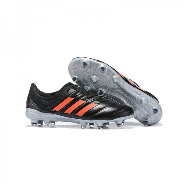 Men's Adidas Copa 19.1 FG Soccer Shoes In Core Black Solar Red