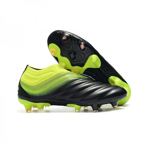 Men's Adidas Copa 19+ FG Soccer Shoes In Black Volt
