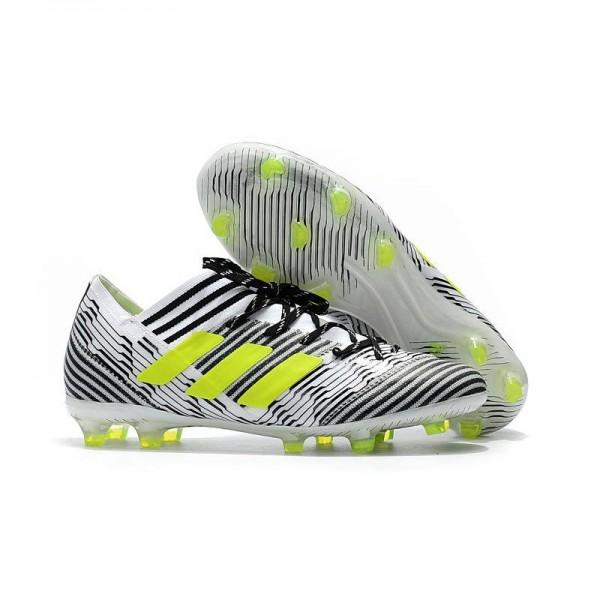 Men's Adidas Nemeziz Messi 17.1 FG Soccer Boots Black White Yellow