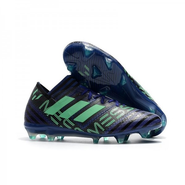 Men's Adidas Nemeziz Messi 17.1 FG Soccer Boots Blue Green