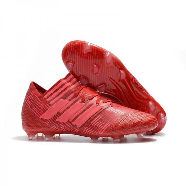 Men's Adidas Nemeziz Messi 17.1 FG Soccer Boots Red Pink
