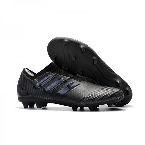 Men's Adidas Nemeziz Messi 17+ 360 Agility FG Soccer Boots All Black