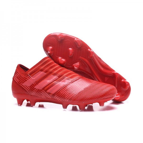 Men's Adidas Nemeziz Messi 17+ 360 Agility FG Soccer Boots All Red