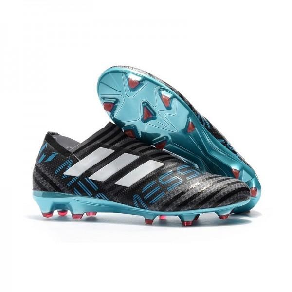 Men's Adidas Nemeziz Messi 17+ 360 Agility FG Soccer Boots Black Blue White