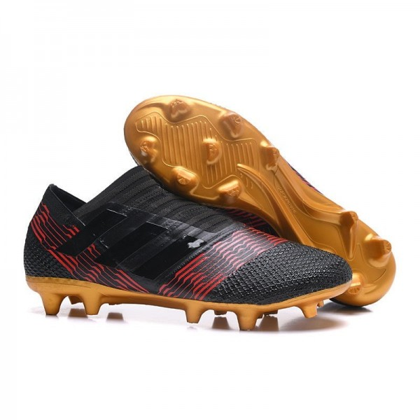 Men's Adidas Nemeziz Messi 17+ 360 Agility FG Soccer Boots Black Gold Red