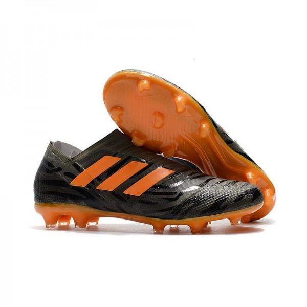 Men's Adidas Nemeziz Messi 17+ 360 Agility FG Soccer Boots Black Orange