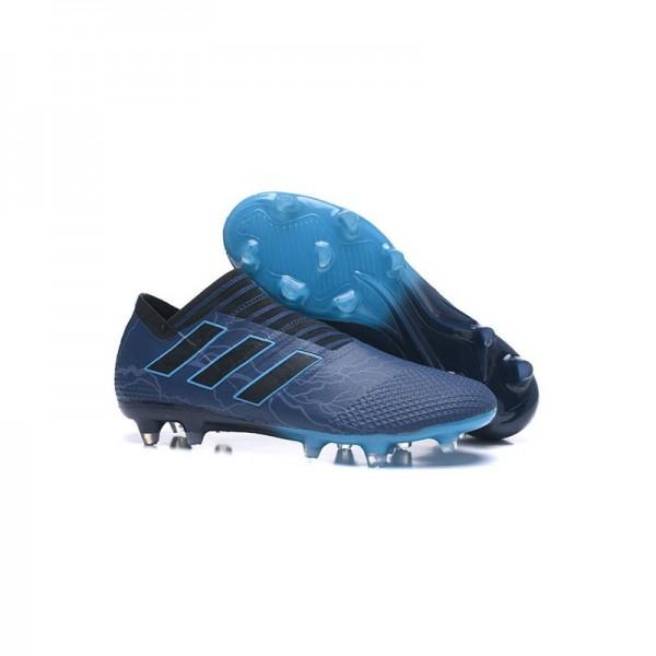 Men's Adidas Nemeziz Messi 17+ 360 Agility FG Soccer Boots Cyan Black