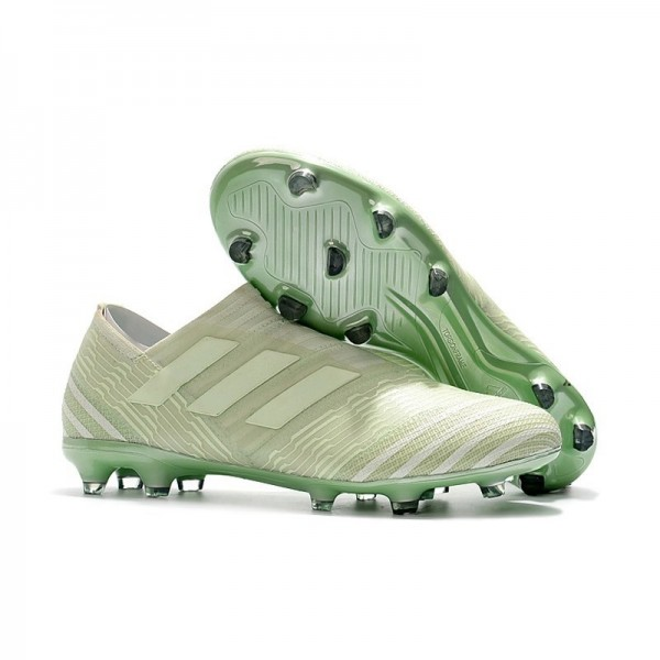 Men's Adidas Nemeziz Messi 17+ 360 Agility FG Soccer Boots Green White