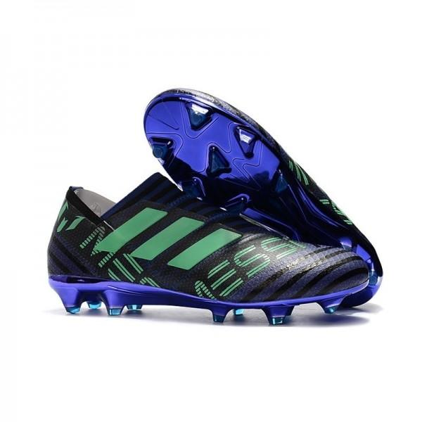 Men's Adidas Nemeziz Messi 17 360 Agility FG Football Cleats Black Green Purple