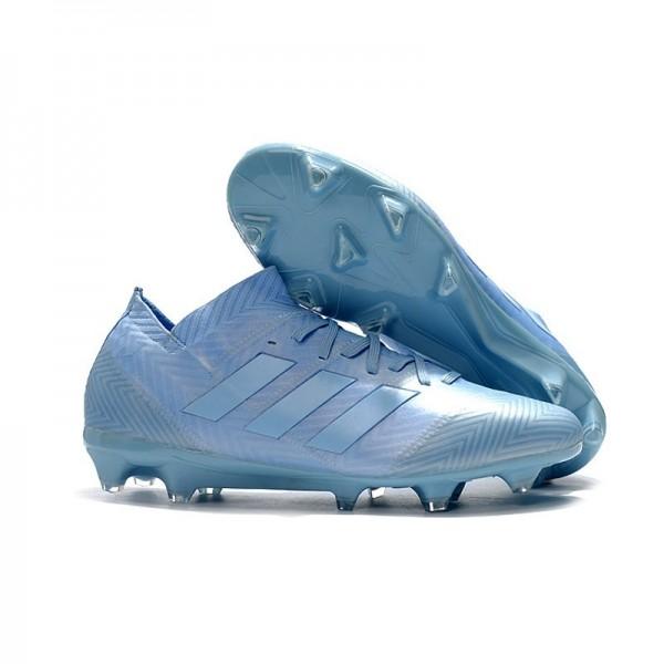 World Cup Men's Adidas Nemeziz 18.1 Messi FG Soccer Cleats Blue