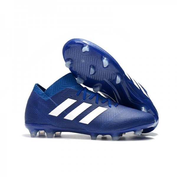 World Cup Men's Adidas Nemeziz 18.1 Messi FG Soccer Cleats Blue White