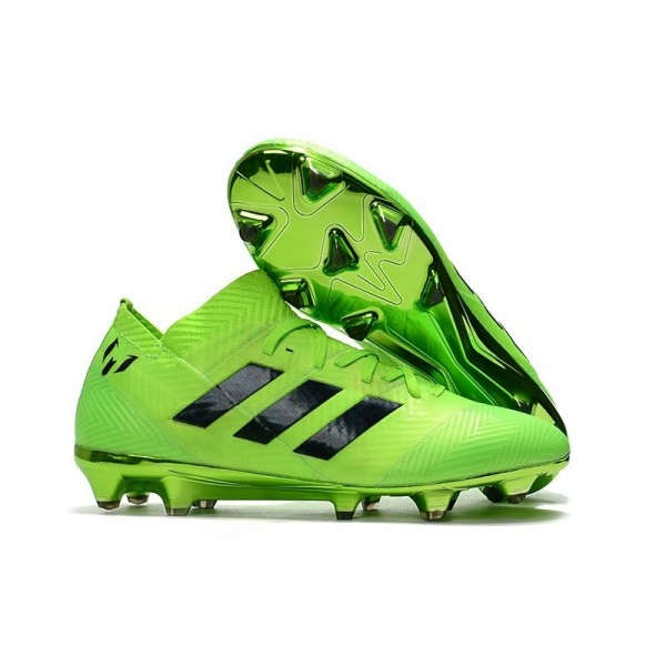 World Cup Men's Adidas Nemeziz 18.1 Messi FG Soccer Cleats Green Black