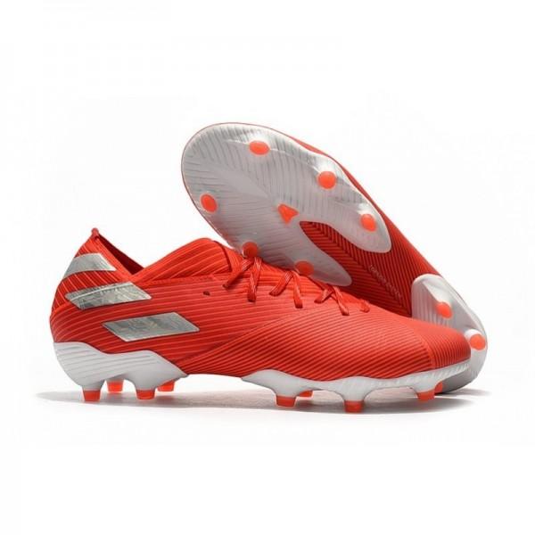 Men's Adidas Nemeziz 19.1 FG News Soccer Boots Active Red Silver