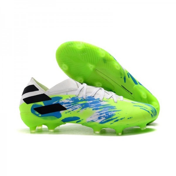 Men's Adidas Nemeziz 19.1 FG News Soccer Boots White Multicolor