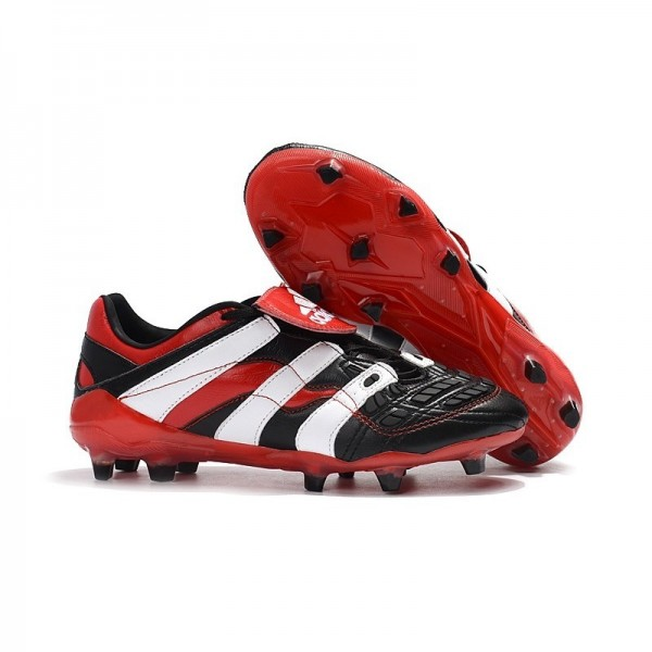 Men's Adidas Predator Accelerator New FG Cleat Black White Red