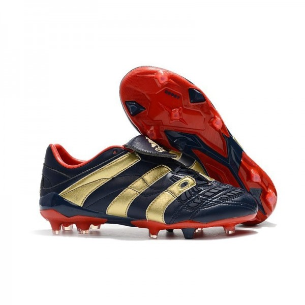 Men's Adidas Predator Accelerator FG Shoes Blue Gold Red