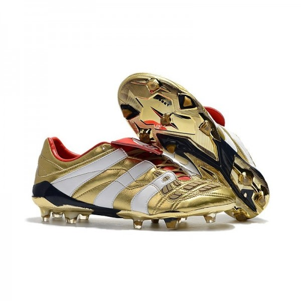 Men's Adidas Predator Accelerator FG Shoes Golden White