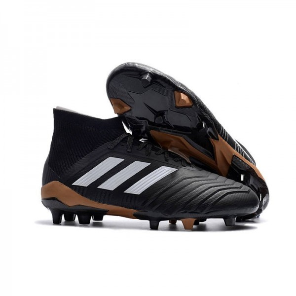 Men's Adidas Predator 18.1 FG Football Boots Black White