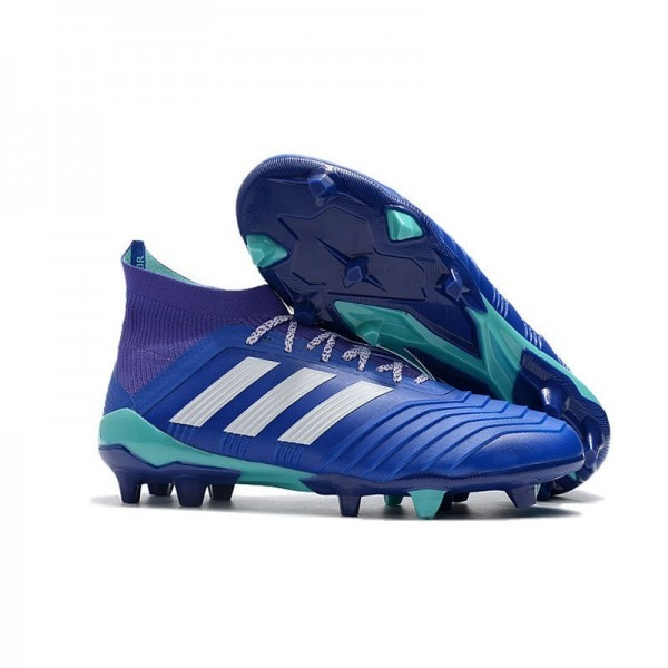 Men's Adidas Predator 18.1 FG Football Boots Blue White