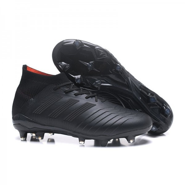 Men's Adidas Predator 18.1 FG Football Boots Full Black