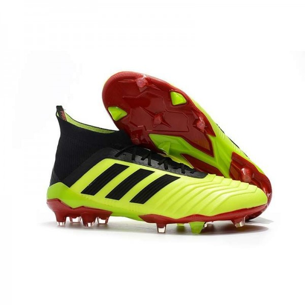 Men's Adidas Predator 18.1 FG Football Boots Yellow Black