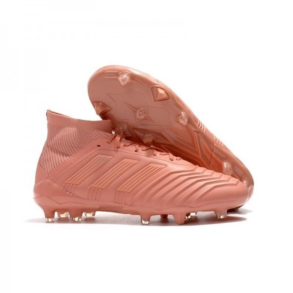 Men's Adidas 2018 Predator 18.1 FG Soccer Cleats Shoes In Pink