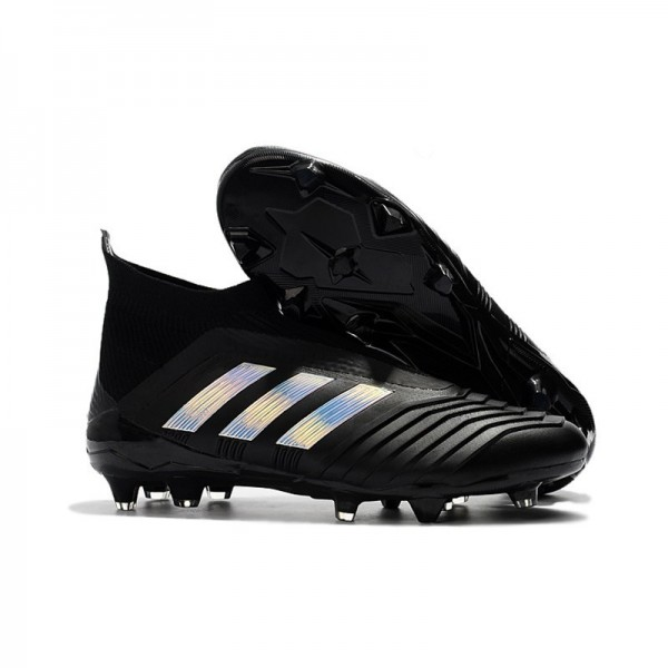 Men's Adidas Predator 18+ FG Firm Ground Boots Black Silver