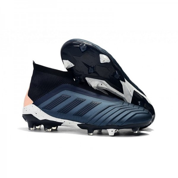 Men's Adidas Predator 18+ FG Firm Ground Boots Cyan Black
