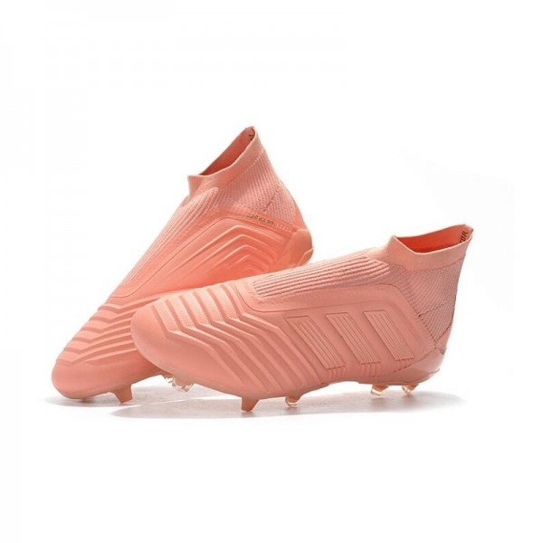 Men's Adidas Predator 18+ FG Firm Ground Boots Full Pink