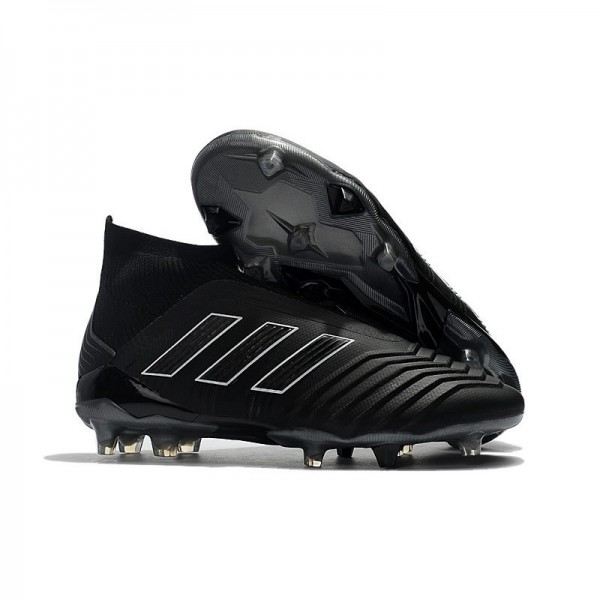 Men's Adidas Predator 18+ FG Firm Ground Boots Shadow Mode Black
