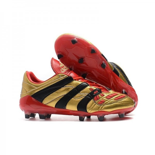 Men's Adidas Predator Accelerator Electricity FG Boots Golden Red Black
