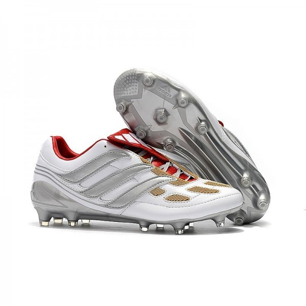 Men's Adidas Predator Accelerator Electricity FG Boots Gray Red Gold