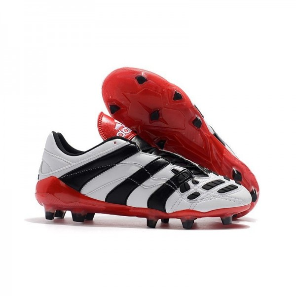 Men's Adidas Predator Accelerator Electricity FG Boots White Black Red