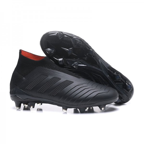 Men's Adidas Predator 18+ FG Soccer Cleats Shoes In All Black