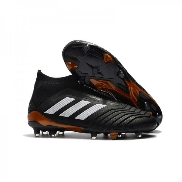 Men's Adidas Predator 18+ FG Soccer Cleats Shoes In Black White