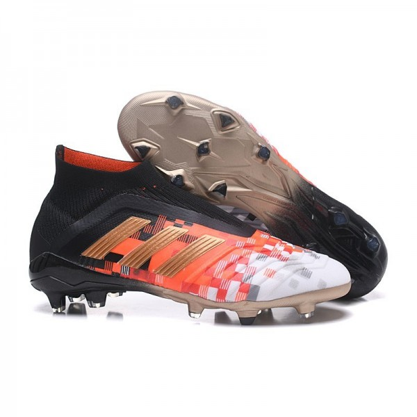 Men's Adidas Predator Telstar 18+ FG Firm Ground Boots Black Metallic Copper
