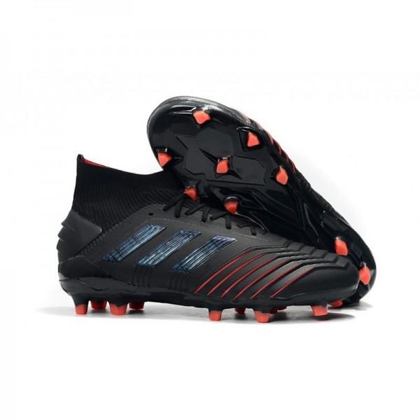 Men's Adidas Predator 19.1 FG Archetic Firm Ground Boots Black Red