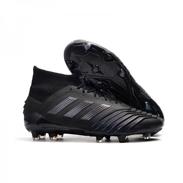 Men's Adidas Predator 19.1 FG Firm Ground Boots All Black