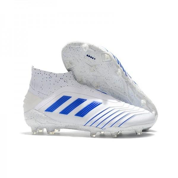Men's Adidas Predator 19+ FG Soccer Boots Virtuso White Blue