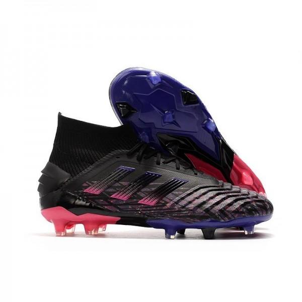 Men's Adidas Predator 19+ FG Firm Ground Shoes Black Pink Blue