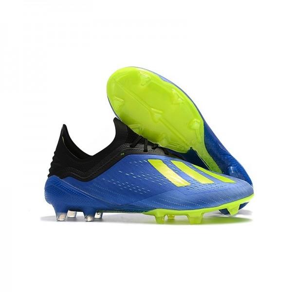 Men's Adidas X 18.1 FG Firm Ground Soccer Cleats Blue Green